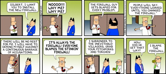Blame the firewall!
