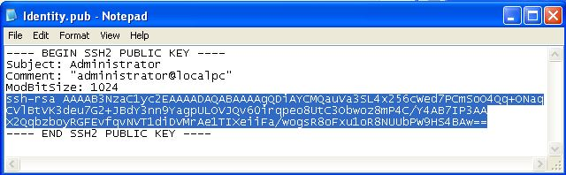 Add ssh-rsa to the encrypted string