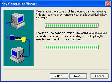 Random input for key generation